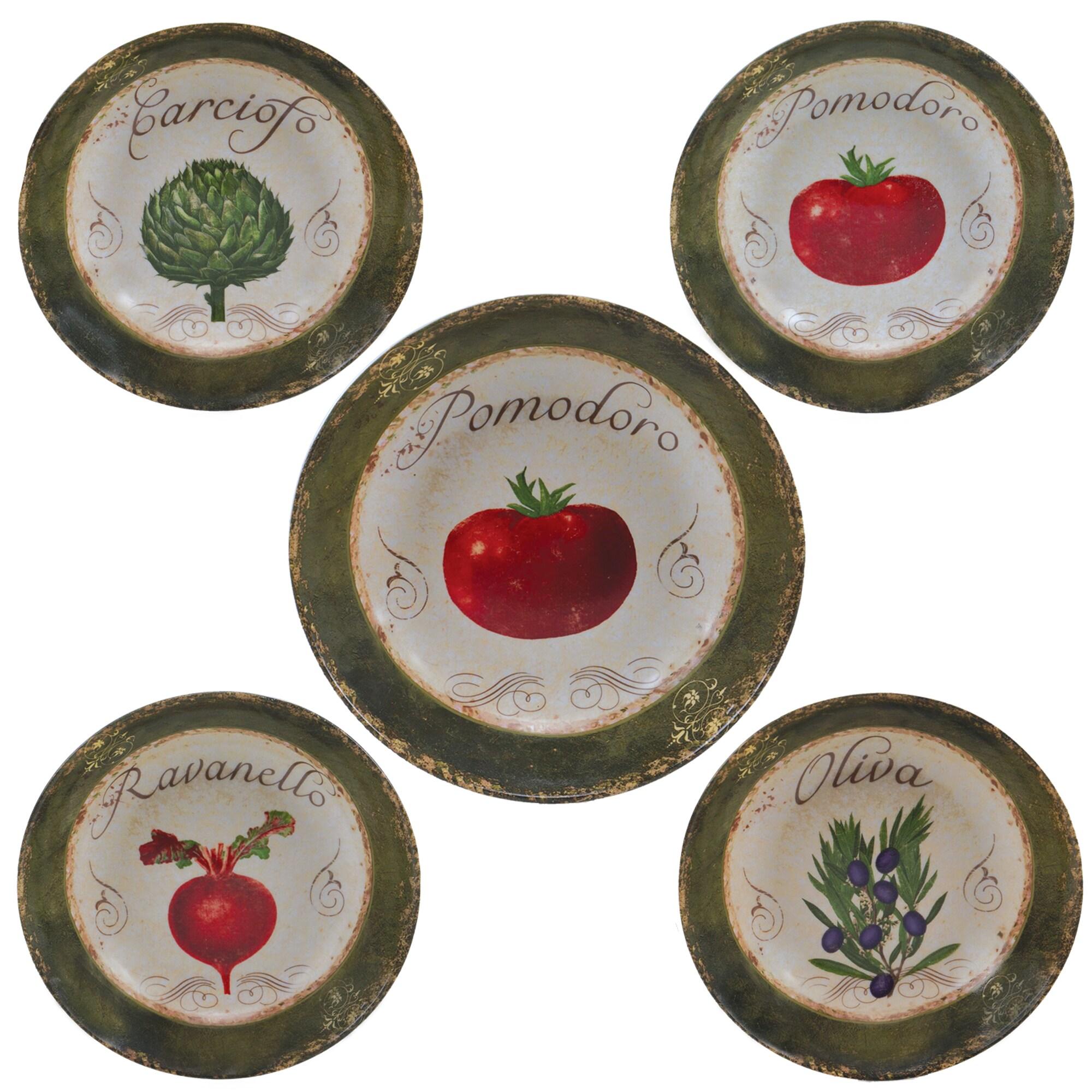 Certified International Pomodoro 5-piece Ceramic Pasta Set (Bowls)