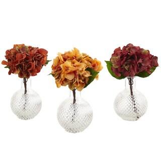 Autumn Hydrangea with Vase (Set of 3)