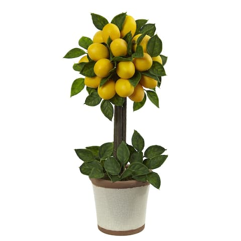 Lemon Ball 18-inch Topiary Arrangement - Yellow