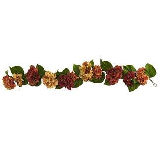 52-inch Autumn Hydrangea Garland