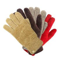 Isotoner Women's One-Size Chenille Knit Stretch Lined Gloves