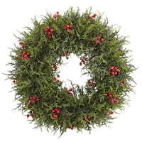20-inch Cedar Berry Wreath