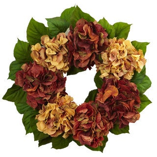 24-inch Autumn Hydrangea Wreath