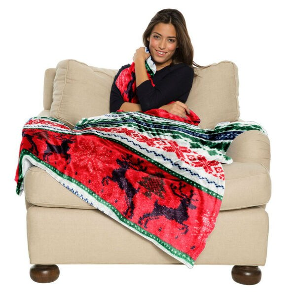 Ugly Sweater Christmas Throw Blanket - Multiple Holiday Patterns Available