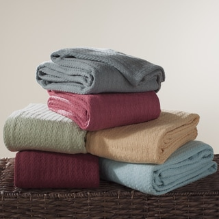 Classic Solid Cotton 50 x 70-inch Throw