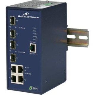 B&B Managed Switch (4) 10/100/1000, (4) SFP