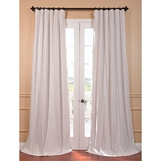 "EFF Signature Off White Velvet Blackout Curtain Panel in 84"" (As Is Item)"