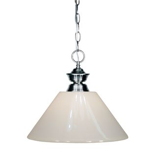 Z-Lite Iron Finish with White Shade - Steel 1-light Pendant