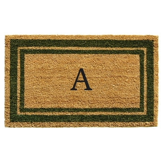 Sage Green Border Monogram Doormat (2' x 3')