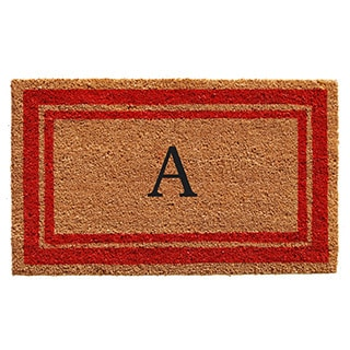 Red Border Monogram Doormat (2' x 3')