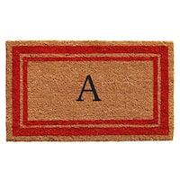 Red Border Monogram Doormat (2' x 3')