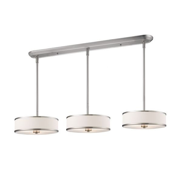 Shop Avery Home Lighting Brushed Nickel With White Shade