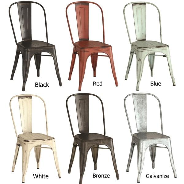 vintage distressed rustic metal dining chairs set of 4 free