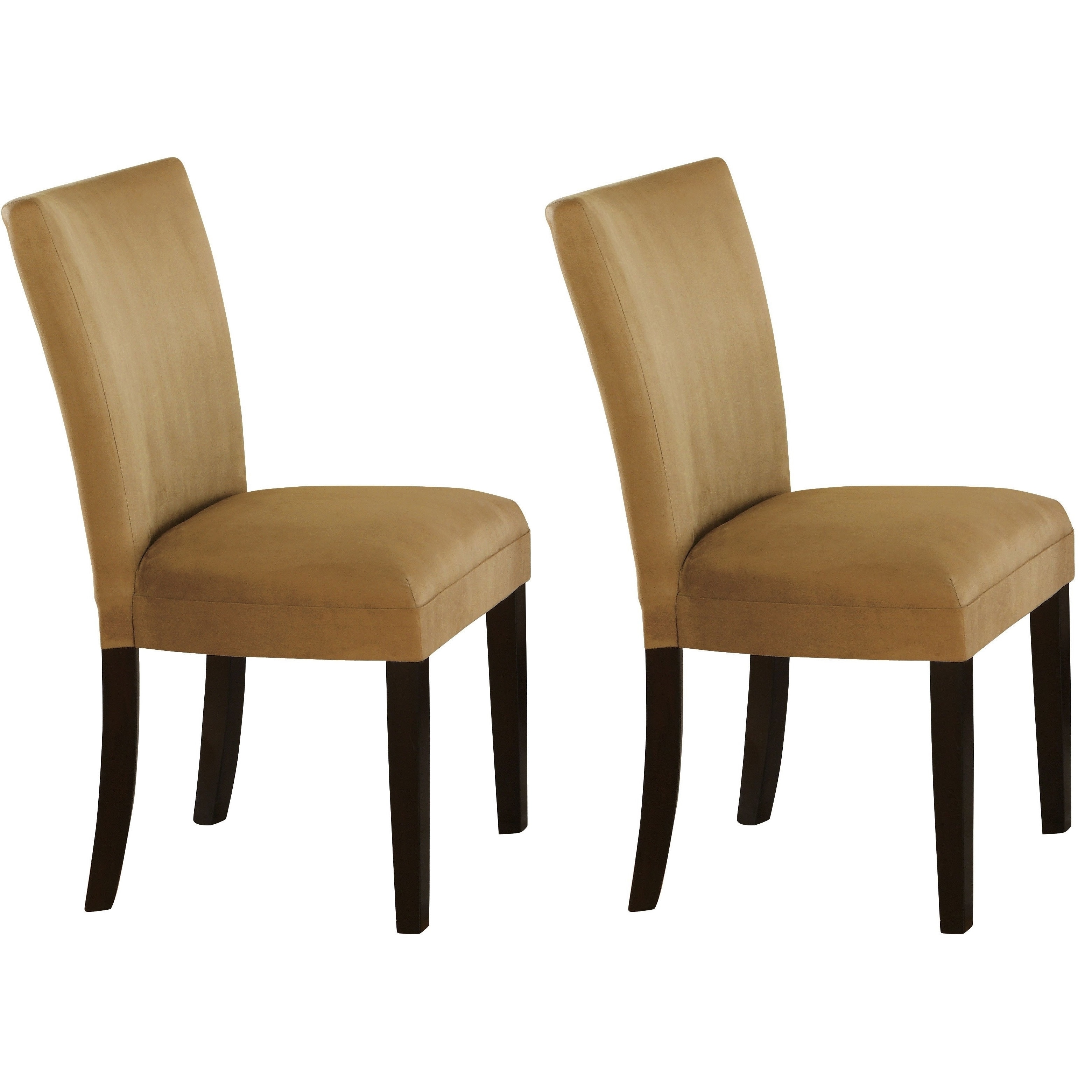 Mirage Round Glass Top Table / Microfiber Parson Chairs 5...