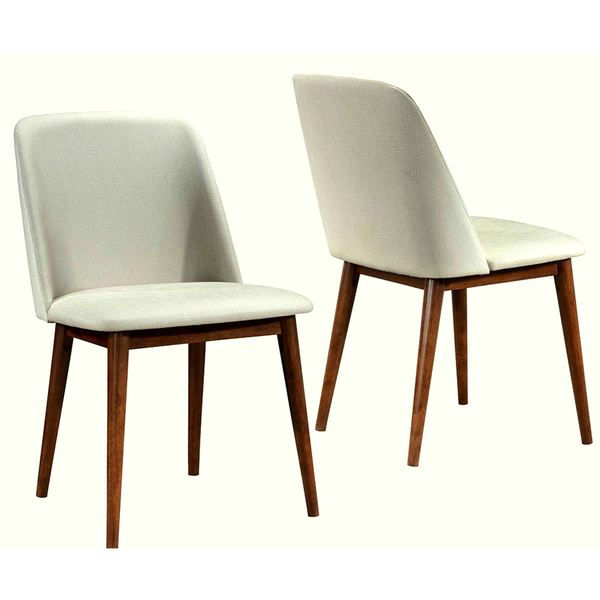 Merveilleux Soho Mid Century Modern Upholstered Dining Chairs (Set Of 2)