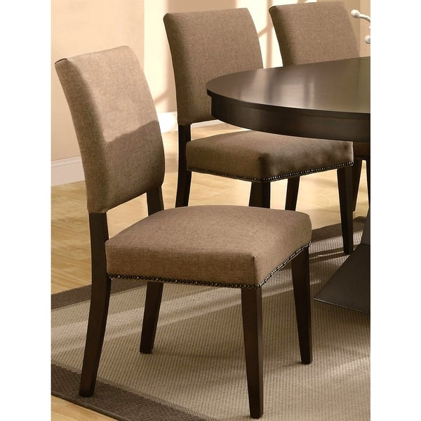 Terra Contemporary Upholstered Dining Chairs With Naihead