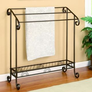 Periao Metal Scroll Design Towel/ Quilt Accent Rack