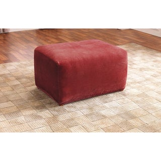 Stretch Ottoman Slipcover in Chocolate (As Is Item)