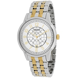 Coach Women's 14000037 Classic Round Two-tone Stainless Steel Bracelet Watch
