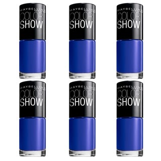 Maybelline New York Color Show Nail Lacquer - Sapphire Siren (Pack of 6)