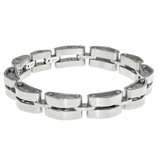Stainless Steel Tank Link Bracelet With Lock Extender