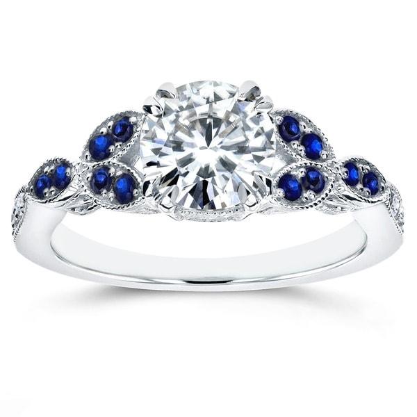 Shop Annello By Kobelli 14k White Gold Blue Sapphire And