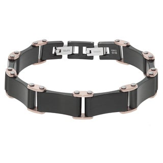 Two-tone Stainless Steel Men's Bracelet