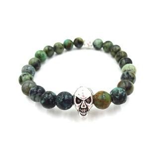 Something Strong Men's 8mm Zinc Alloy African Loose Skull Bracelet
