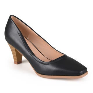 Journee Collection Women's 'Lucy' Classic Stacked Heel Pumps|https://ak1.ostkcdn.com/images/products/10789819/P17837472.jpg?impolicy=medium