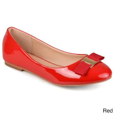 Journee Collection Women's 'Kim' Patent Round Toe Flats