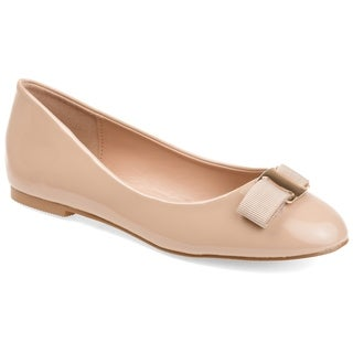 Link to Journee Collection Women's 'Kim' Patent Round Toe Flats Similar Items in Women's Shoes