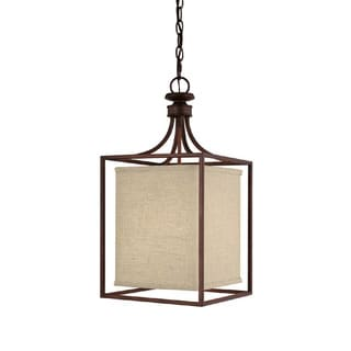 Capital Lighting Midtown Collection 2-light Burnished Bronze Foyer Fixture