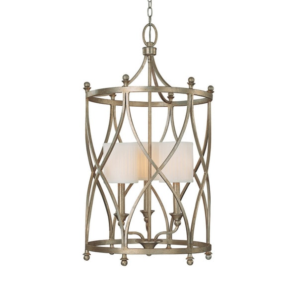 Capital Lighting Fifth Avenue Collection 3 Light Winter Gold Foyer Fixture