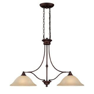 Capital Lighting Belmont Collection 2-light Burnished Bronze Island Fixture