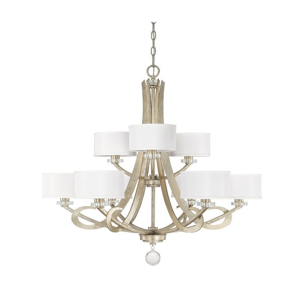 shop capital lighting hutton collection 9 light winter gold
