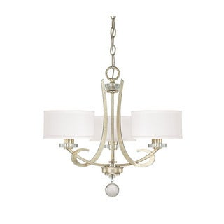Capital Lighting Hutton Collection 3-light Winter Gold Chandelier