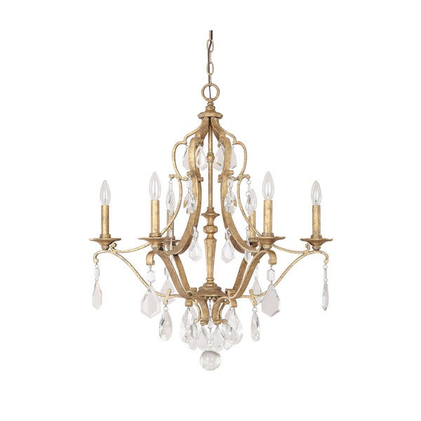 Capital Lighting Blakely Collection 6-light Antique Gold Chandelier - N/A - Shop Capital Lighting Blakely Collection 6-light Antique Gold