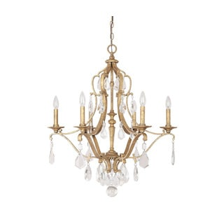 Capital Lighting Blakely Collection 6-light Antique Gold Chandelier