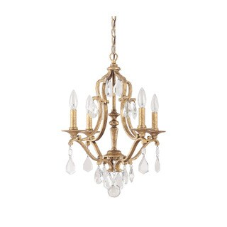 Capital Lighting Blakely Collection 4-light Antique Gold Chandelier - N/A
