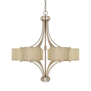 Capital Lighting Luna Collection 6-light Winter Gold Chandelier