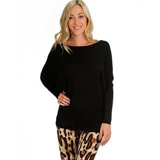 Lyss Loo Women's Dolman Jersey Blouse
