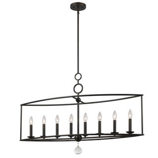 Crystorama Cameron Collection 8-light English Bronze Chandelier