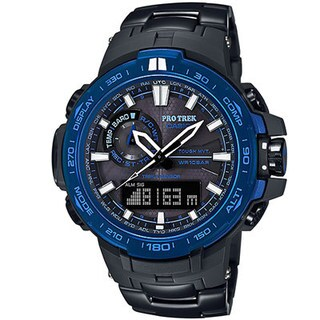 Casio ProTrek PRW6000SYT-1 Black Blue Stainless Steel Watch
