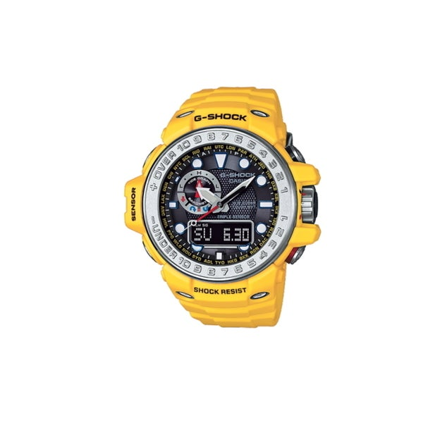 02b66ce1074 Shop CASIO G-SHOCK GULFMASTER GWN1000-9A Yellow Strap Watch - Free ...