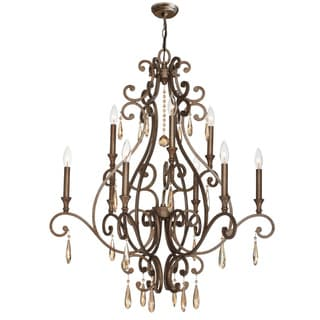 Crystorama Shelby Collection 9-light Distressed Twilight Chandelier