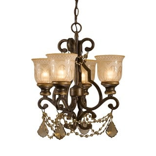 Crystorama Norwalk Collection 4-light Bronze Umber Mini Chandelier