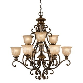 Crystorama Norwalk Collection 9-light Bronze Umber Chandelier