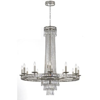 Crystorama Mercer Collection 16-light Olde SIlver Chandelier