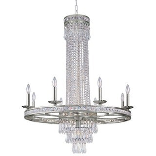 Crystorama Mercer Collection 11-light Olde SIlver Chandelier