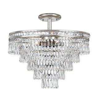 Crystorama Mercer Collection 6-light Olde SIlver Chandelier